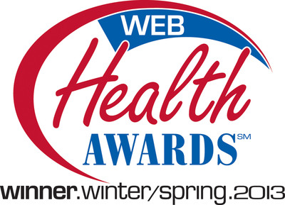 Web Health Awards winner logo.  (PRNewsFoto/Ormco Corporation)