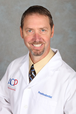 Prosthodontist Dr. Lars Bouma Shares Sylvia's Survivor Story in the ACP's Digital Dentistry Video on GoToAPro.org.  (PRNewsFoto/American College of Prosthodontists)