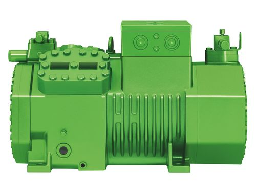 "CO2 is becoming an increasingly important refrigerant in commercial refrigeration technology worldwide. Image: OCTAGON CO2 semi-hermetic reciprocating compressor for transcritical applications ""made by BITZER"""