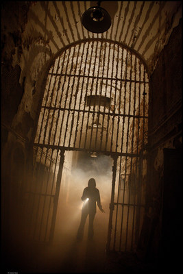 Terror Behind the Walls at Eastern State Penitentiary in Philadelphia, a massive haunted house in the cellblocks of a real abandoned prison, opens with new scares! (PRNewsFoto/Eastern State Penitentiary)