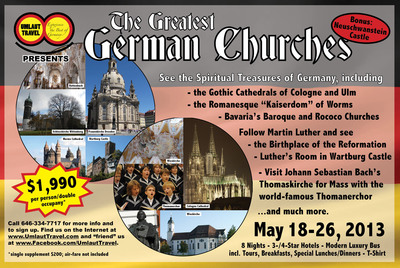 "See ""The Greatest German Churches"".  (PRNewsFoto/German-American Committee of Greater New York)"