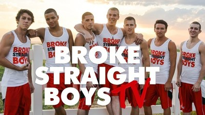 The cast of the reality show BrokeStraightBoys.TV