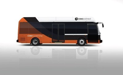 The 30' BYD K7 that will be joining COMO Connect's fleet in 2015