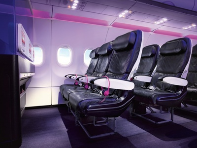 VIRGIN AMERICA NAMED TOP DOMESTIC AIRLINE IN TRAVEL + LEISURE'S WORLD'S BEST AWARDS SURVEY FOR SEVENTH YEAR IN A ROW (PRNewsFoto/Virgin America)