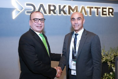 Left to Right: Mohammed Amin, Senior Vice President, Turkey, Eastern Europe, Africa & Middle East at Dell EMC and Rabih Dabboussi, Senior Vice President of Sales, Marketing and Business Development at DarkMatter (PRNewsFoto/DarkMatter)