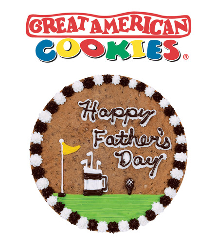 Great American Cookies' Cookie Cake catalogue features a vast array of Father's Day designs including themes around fishing, music, golf, football and many more. Customers can also work with a Great American Cookies cookie artisan to create a completely unique design for their dad. View all of the company's Cookie Cake designs and find a location near you at www.GreatAmericanCookies.com.  (PRNewsFoto/Great American Cookies)