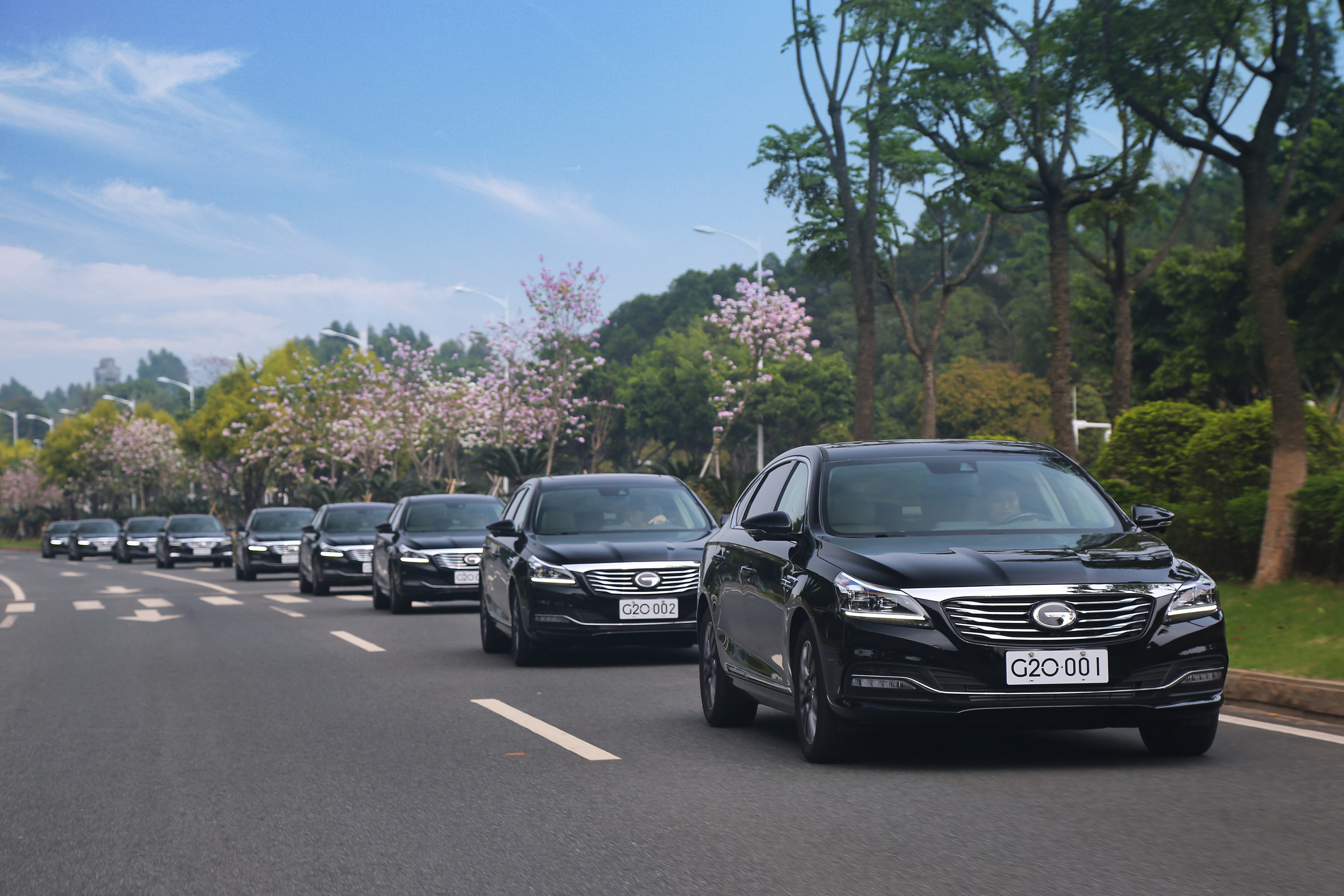 40 GA8 sedans were provided as designated service cars for the G20 summit