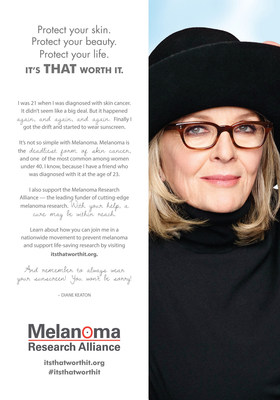 Diane Keaton L'Oreal Paris Melanoma Research Alliance print PSA