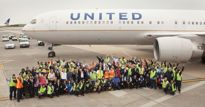United employees, many of whom have worked for the company at Washington Dulles International Airport for over 30 years, gathered together on Monday to celebrate the airline's 30th anniversary of serving the airport as a hub.