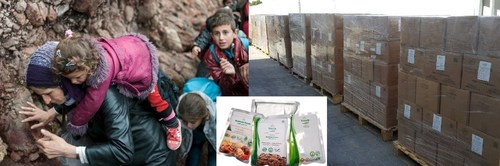 Thousands of Halal Ready to Eat Meals sent for European Refugees (PRNewsFoto/Saahtain Foods)
