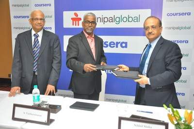 Manipal Global Partners with Coursera (PRNewsFoto/Manipal Global Education Service)