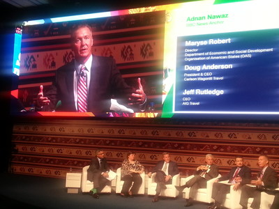 Sabre SVP Jay Jones joined a panel with industry CEOs at WTTC Americas in Peru (PRNewsFoto/Sabre Corporation)