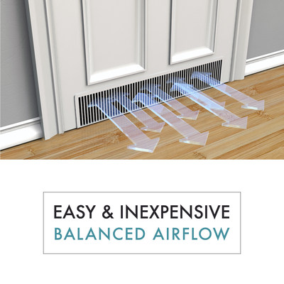 The Perfect Balance in-door return air pathway enables proper airflow from room to room, allowing your heating system to function more efficiently.