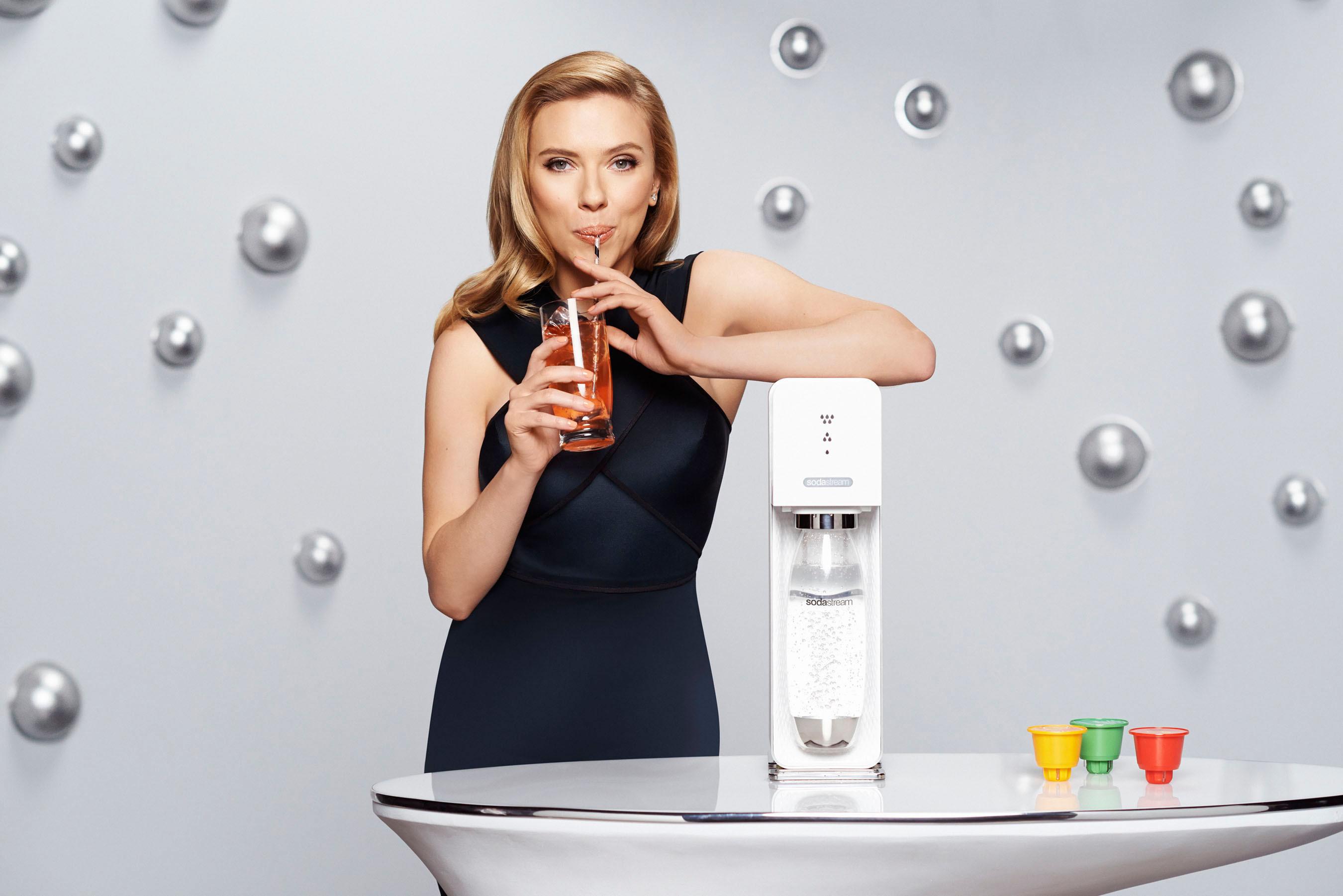 SodaStream unveils Scarlett Johansson as its first-ever Global Brand Ambassador. (PRNewsFoto/SodaStream International Ltd.) (PRNewsFoto/SODASTREAM INTERNATIONAL LTD.)