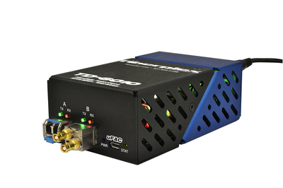 New TD-6010 adapts between media and transport formats, including optical fiber, for unified communications.