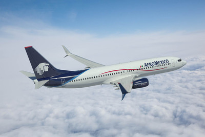 Rendering of Aeromexico 737-800 with Split Scimitar Winglets.  (PRNewsFoto/Aviation Partners Boeing)