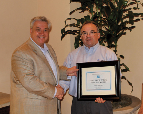 Roy Larsen of Larsen Associates Receives Aries Electronics' 2010 Rep of the Year Award