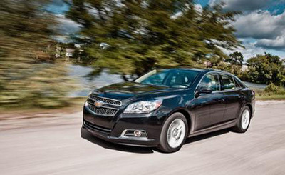 The 2013 Chevy Malibu Eco has earned the two highest safety awards and is for sale at Chevrolet of Naperville near Chicago, IL.  (PRNewsFoto/Chevrolet of Naperville)