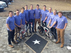 Western Kentucky University fraternity brothers bike across America to raise $100,000 for Alzheimer's research. (PRNewsFoto/BrightFocus Foundation)