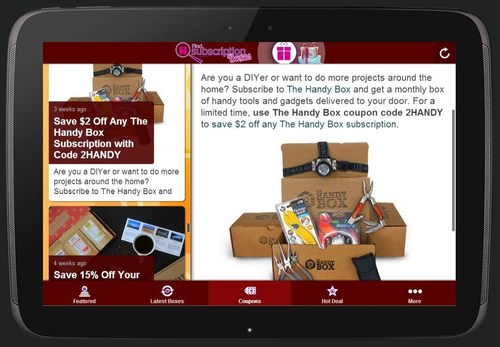 Find Subscription Boxes Subscription Box App Screenshot Preview (PRNewsFoto/Find Subscription Boxes)