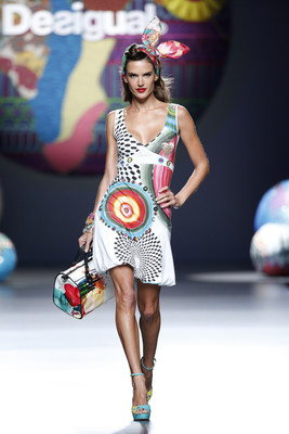 Alessandra Ambrosio Walks in Desigual's Anniversary Show at MERCEDES-BENZ FASHION WEEK MADRID (PRNewsFoto/Desigual)