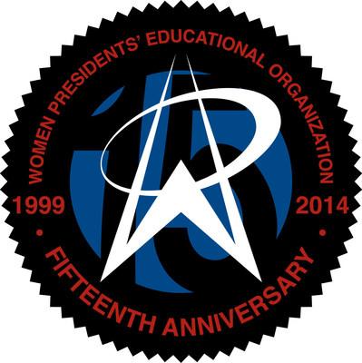 WPEO 15th Anniversary Logo (PRNewsFoto/Women Presidents' Educational...)