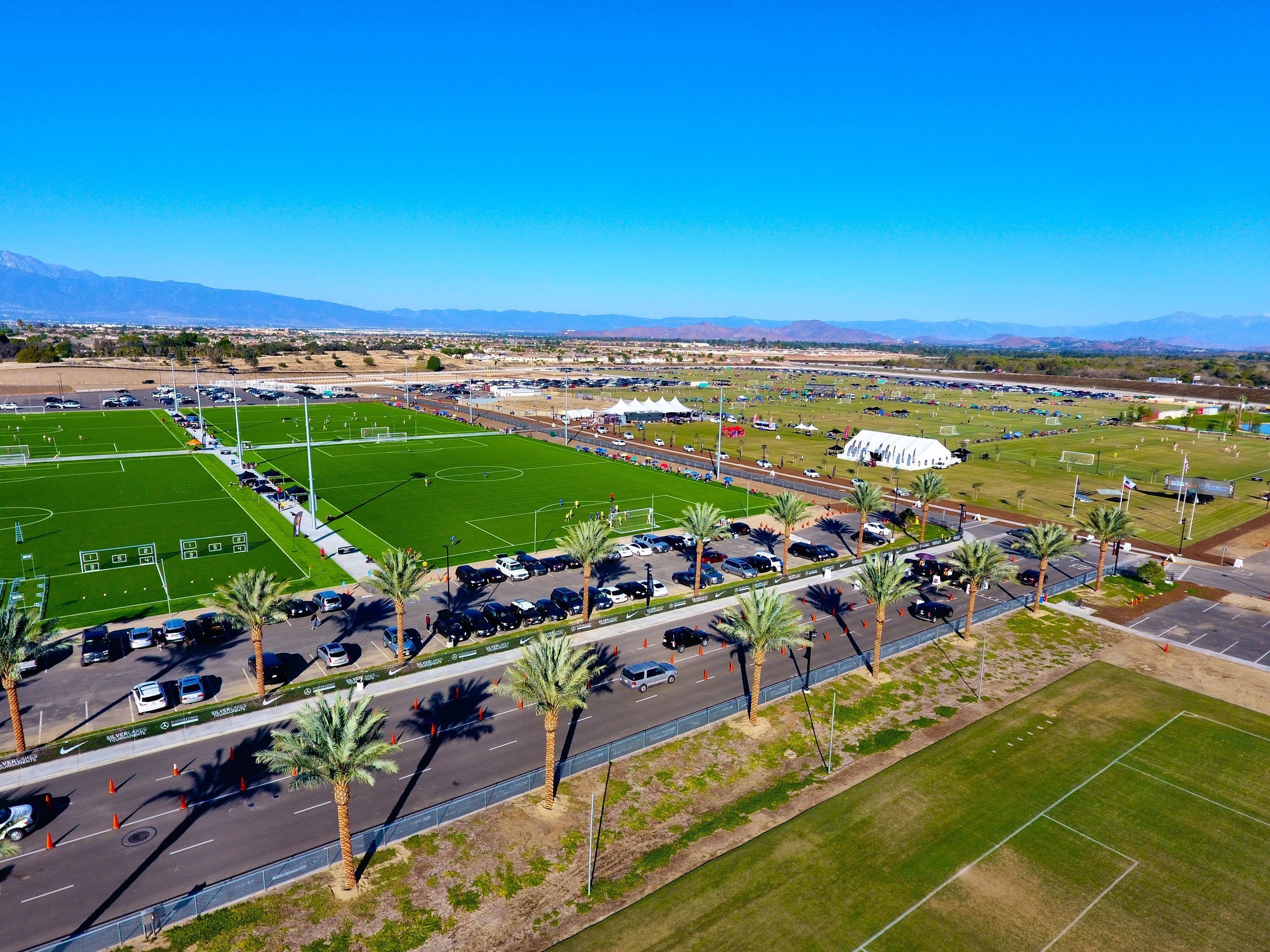 SilverLakes is one of the largest soccer, equestrian and entertainment complexes in the United States.  SilverLakes encompasses 130 acres in Norco, California. The state-of-the facility has 24 full size soccer fields, a concert & events center, five horse arenas and has hosted more than 750K athletes and enthusiasts in its first year of operation.  SilverLakes mission is to help children and families realize their full athletic potential while creating a needed family friendly venue and gathering place for the local communities it serves.  This was the home to the first annual SilverLakes College.