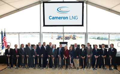 Community, business and international leaders, along with several federal, state and local elected officials, today took part in a groundbreaking ceremony for the new $10 billion liquefaction export facilities at Cameron LNG in Hackberry, La.