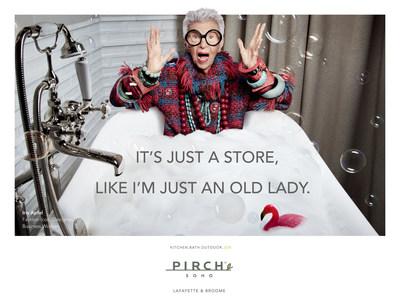 Iris Apfel stars in new Pirch marketing campaign. Photography by Liz Von Hoene