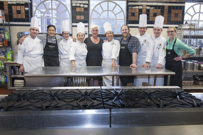 Students and Tastemade talent in the kitchen for PepsiCo's Game Day Grub Match