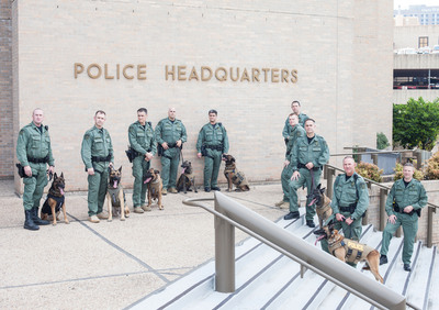 PetArmor(R), known for its veterinarian-quality products that protect dogs and cats from fleas and ticks, has partnered with Vested Interest in K-9s to outfit Austin, Texas' entire Patrol K-9 unit with bullet and stab protective vests. (PRNewsFoto/PetArmor) (PRNewsFoto/PETARMOR)
