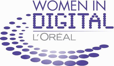 L'Oreal USA Women in Digital Logo.