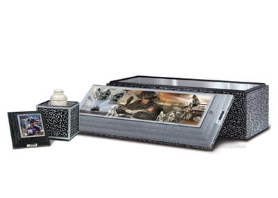 Combined SST Burial Urn Vault - First Responder.  (PRNewsFoto/Wilbert Funeral Services, Inc.)