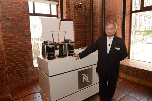 Master Sommelier Giuseppe Vaccarini helped lead four days of Nespresso's coffee seminars and tastings.  ...