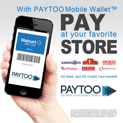 PayToo Mobile Wallet.  (PRNewsFoto/PayToo Corporation)