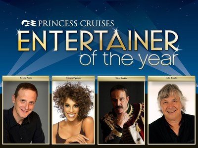Princess Cruises announces the finalists for the sixth annual Entertainer of the Year competition.