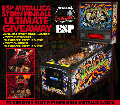 ESP Guitars and Stern Pinball Partner for ULTIMATE Metallica Giveaway