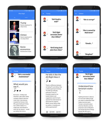 Shut-App allows you to choose the topic, find the claim or argument you are up against, and receive a variety of answers, all researched and composed by US and international debaters.