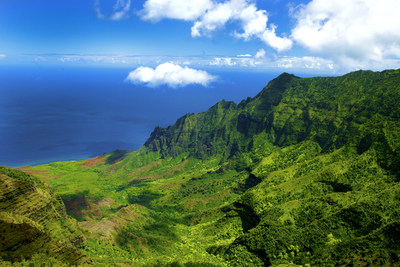 Breathtaking view of Kalalau Valley from the Kalalau Lookout within the Kokee State Park. Image Credit: Kauai Visitors Bureau, Kicka Witte