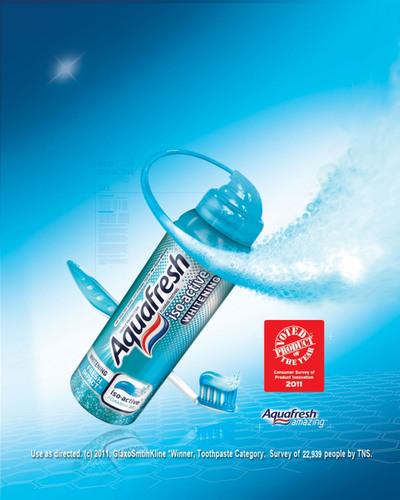 America Votes Aquafresh(R) iso-active(R) Toothpaste 2011 Product of the Year.  (PRNewsFoto/GlaxoSmithKline Consumer Healthcare)
