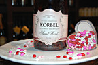 Red roses, with their message of love, may always be the number one Valentine's Day gift, but sweet libations are clearly gaining. Noticeably pink in hue, Korbel Sweet Rose shows the style that gives these sparklers their Valentine's Day popularity. The romantic color, fresh berry flavors (that pair exquisitely with chocolate) and complex finish, invite toasts to love and happiness.  (PRNewsFoto/Korbel Champagne Cellars)