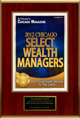 "Julie Murphy Casserly Selected For ""2012 Chicago Select Wealth Managers"".  (PRNewsFoto/American Registry)"