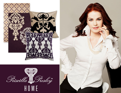 HStudio Announces Home Collection Partnership With Priscilla Presley. Pictured: Rug and accent pillows to be released in late 2011.  (PRNewsFoto/HStudio)
