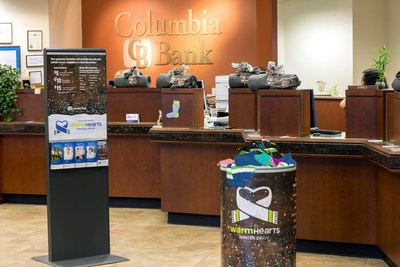 Columbia Bank branches provided donation bins for warm winter wear. Donations will be accepted at all bank branches until January 31, 2016.