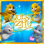 "The first-ever ZhuZhu Pets(R) DVD, ""Quest for Zhu(TM)"" debuts in high quality stereoscopic CGI animation in stores today. Join the four original ZhuZhu Pets(R) - Pipsqueak, Chunk, Mr. Squiggles and Num Nums in a heartwarming tale as these four ordinary hamsters travel through the magical land of Zhu to face extraordinary tasks. A story of friendship, discovering the value of their inner talents, and a quest to save the day, Zhu-natics everywhere will be on the edge of their seats.  (PRNewsFoto/Cepia LLC)"