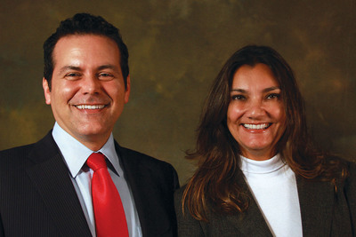 President, Peter Carvalho welcomes Brazil Country Manager, Rosa Carvalho to Agile-1. (PRNewsFoto/Agile-1) (PRNewsFoto/AGILE-1)