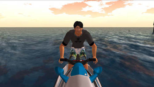 Avatars of the research team in an area of the private Second Life(R) island where amputees will be able to ...