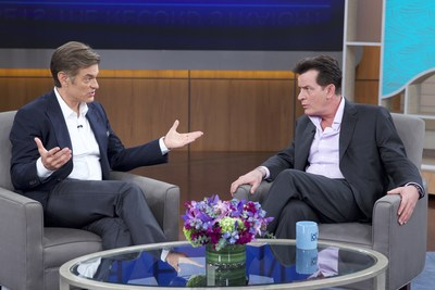 Charlie Sheen appears Wednesday on The Dr. Oz Show