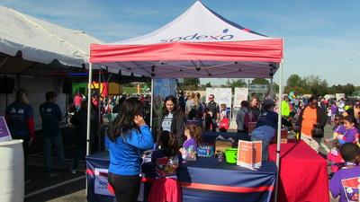 Sodexo Activity Tent at the 2016 Marine Corps Marathon Kids Run
