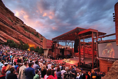 Enter to win the Denver Rocks Giveaway on Facebook and fly to The Mile High City for Denver Day of Rock, a concert at Red Rocks Park & Amphitheatre and much more. Photo credit: VISIT DENVER/Stevie Crecelius.  (PRNewsFoto/VISIT DENVER, The Convention & Visitors Bureau)
